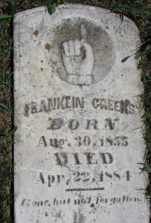 CREEKS, FRANKLIN - Worth County, Missouri | FRANKLIN CREEKS - Missouri Gravestone Photos