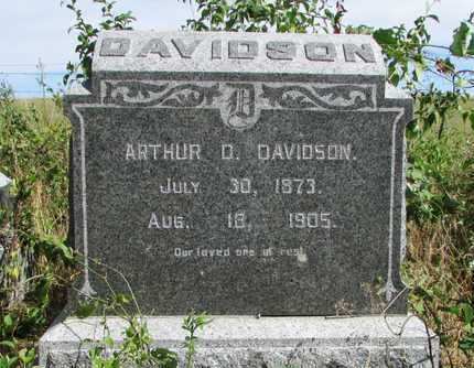DAVIDSON, ARTHUR D - Worth County, Missouri | ARTHUR D DAVIDSON - Missouri Gravestone Photos