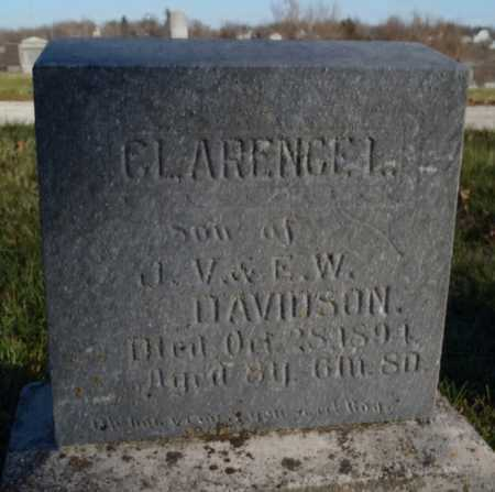 DAVIDSON, CLARENCE L. - Worth County, Missouri | CLARENCE L. DAVIDSON - Missouri Gravestone Photos