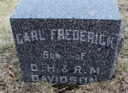DAVIDSON, CARL FREDRICK - Worth County, Missouri | CARL FREDRICK DAVIDSON - Missouri Gravestone Photos