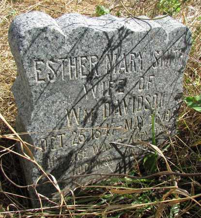 SMITH DAVIDSON, ESTHER MARY - Worth County, Missouri | ESTHER MARY SMITH DAVIDSON - Missouri Gravestone Photos