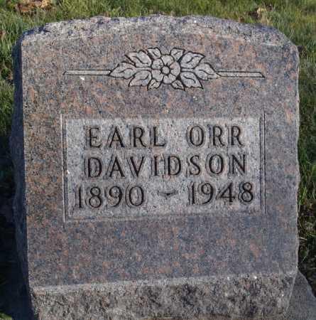 DAVIDSON, EARL ORR - Worth County, Missouri | EARL ORR DAVIDSON - Missouri Gravestone Photos