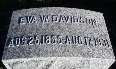 DAVIDSON, EVA W. - Worth County, Missouri | EVA W. DAVIDSON - Missouri Gravestone Photos