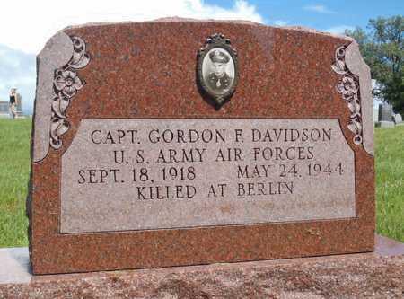 DAVIDSON, GORDON FRANK VETERAN WWII KIA - Worth County, Missouri   GORDON FRANK VETERAN WWII KIA DAVIDSON - Missouri Gravestone Photos