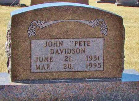 "DAVIDSON, JOHN MANUEL RAY ""PETE"" - Worth County, Missouri   JOHN MANUEL RAY ""PETE"" DAVIDSON - Missouri Gravestone Photos"