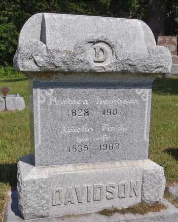 DAVIDSON, MORDICA - Worth County, Missouri | MORDICA DAVIDSON - Missouri Gravestone Photos