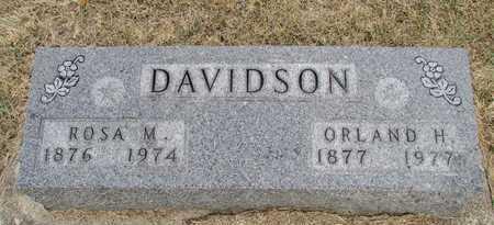 DAVIDSON, ORLANDO HUGH - Worth County, Missouri | ORLANDO HUGH DAVIDSON - Missouri Gravestone Photos