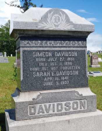 DAVIDSON, SARAH ELIZABETH - Worth County, Missouri | SARAH ELIZABETH DAVIDSON - Missouri Gravestone Photos
