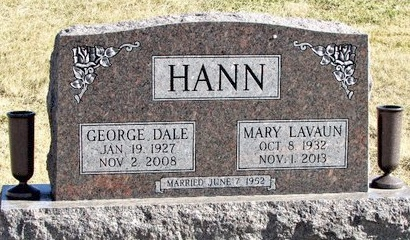 HANN, GEORGE DALE - Worth County, Missouri | GEORGE DALE HANN - Missouri Gravestone Photos