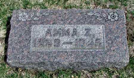 HAUBER, AMMA Z. - Worth County, Missouri   AMMA Z. HAUBER - Missouri Gravestone Photos