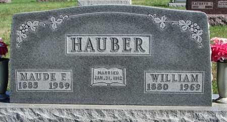 HUTTON HAUBER, MAUDE E - Worth County, Missouri | MAUDE E HUTTON HAUBER - Missouri Gravestone Photos