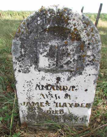 HAYDEN, AMANDA - Worth County, Missouri | AMANDA HAYDEN - Missouri Gravestone Photos