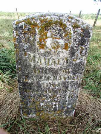 HAYDEN, MAHALA - Worth County, Missouri | MAHALA HAYDEN - Missouri Gravestone Photos