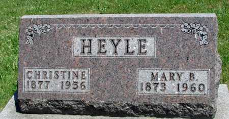 HEYLE, CHRISTINE - Worth County, Missouri | CHRISTINE HEYLE - Missouri Gravestone Photos
