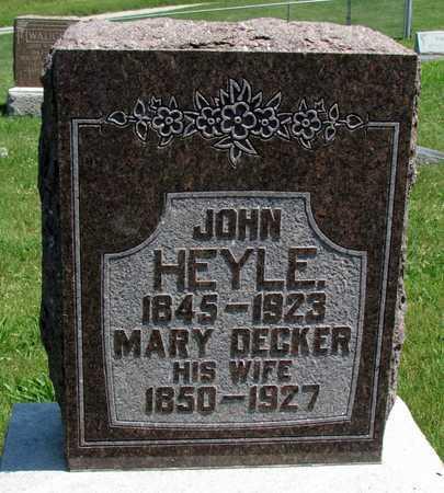 DECKER HEYLE, MARY - Worth County, Missouri | MARY DECKER HEYLE - Missouri Gravestone Photos