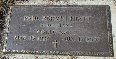 HIATT, PAUL BERVIN VETERAN WWII - Worth County, Missouri   PAUL BERVIN VETERAN WWII HIATT - Missouri Gravestone Photos
