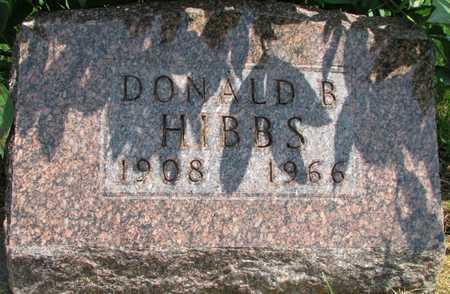 HIBBS, DONALD B. - Worth County, Missouri | DONALD B. HIBBS - Missouri Gravestone Photos