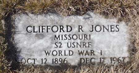 JONES, CLIFFORD R. WW I VETERAN - Worth County, Missouri | CLIFFORD R. WW I VETERAN JONES - Missouri Gravestone Photos