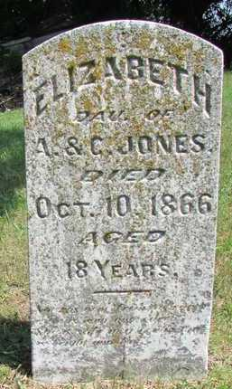 JONES, ELIZABETH - Worth County, Missouri | ELIZABETH JONES - Missouri Gravestone Photos