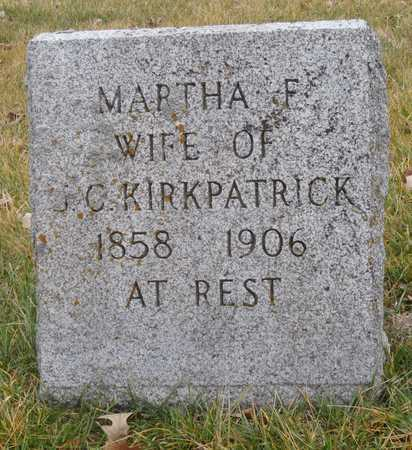 KIRKPATRICK, MARTHA F. - Worth County, Missouri | MARTHA F. KIRKPATRICK - Missouri Gravestone Photos