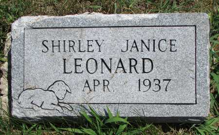 LEONARD, SHIRLEY JANICE - Worth County, Missouri | SHIRLEY JANICE LEONARD - Missouri Gravestone Photos