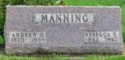 MANNING, ANDREW DUGGER - Worth County, Missouri | ANDREW DUGGER MANNING - Missouri Gravestone Photos