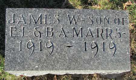 MARRS, JAMES W. - Worth County, Missouri | JAMES W. MARRS - Missouri Gravestone Photos