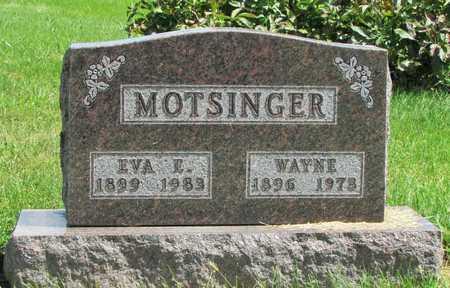 MOTSINGER, EVA E. - Worth County, Missouri | EVA E. MOTSINGER - Missouri Gravestone Photos