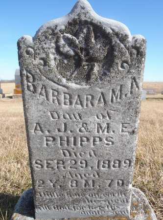 PHIPPS, BARBARA M. A. - Worth County, Missouri   BARBARA M. A. PHIPPS - Missouri Gravestone Photos