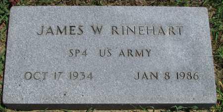 RINEHART, JAMES W  VETERAN - Worth County, Missouri | JAMES W  VETERAN RINEHART - Missouri Gravestone Photos