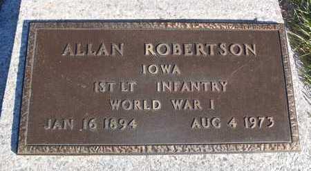 ROBERTSON, ALLAN - Worth County, Missouri   ALLAN ROBERTSON - Missouri Gravestone Photos