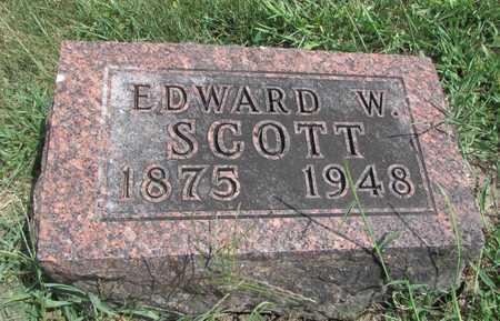 SCOTT, EDWARD W. - Worth County, Missouri | EDWARD W. SCOTT - Missouri Gravestone Photos