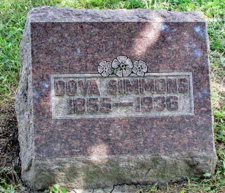 "SIMMONS, DOVA AMANDA ""DOVIE"" - Worth County, Missouri | DOVA AMANDA ""DOVIE"" SIMMONS - Missouri Gravestone Photos"