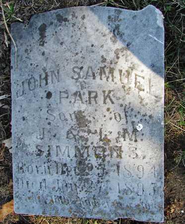 SIMMONS, JOHN SAMUEL PARK - Worth County, Missouri | JOHN SAMUEL PARK SIMMONS - Missouri Gravestone Photos