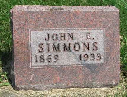 SIMMONS, JOHN E. - Worth County, Missouri | JOHN E. SIMMONS - Missouri Gravestone Photos