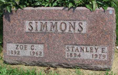 SIMMONS, STANLEY E. - Worth County, Missouri | STANLEY E. SIMMONS - Missouri Gravestone Photos