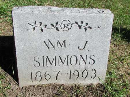 SIMMONS, WILLIAM J. - Worth County, Missouri | WILLIAM J. SIMMONS - Missouri Gravestone Photos