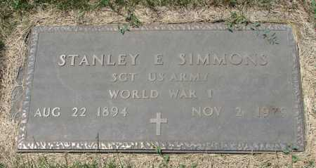 SIMMONS, STANLEY E. WWI VETERAN - Worth County, Missouri | STANLEY E. WWI VETERAN SIMMONS - Missouri Gravestone Photos