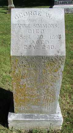 SIMMONS, GEORGE W. - Worth County, Missouri | GEORGE W. SIMMONS - Missouri Gravestone Photos