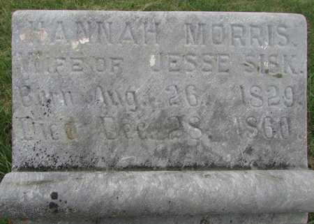 SISK, HANNAH - Worth County, Missouri   HANNAH SISK - Missouri Gravestone Photos