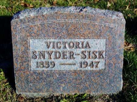 SISK, VICTORIA LETTSONIA - Worth County, Missouri   VICTORIA LETTSONIA SISK - Missouri Gravestone Photos