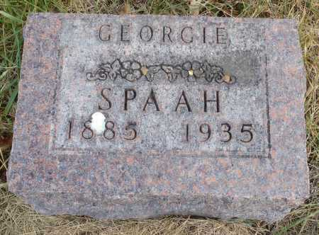 SPAAH, GEORGIE - Worth County, Missouri | GEORGIE SPAAH - Missouri Gravestone Photos