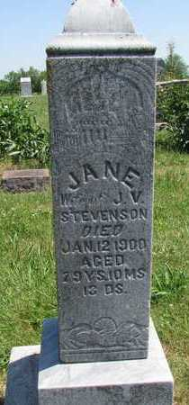 STEVENSON, JANE - Worth County, Missouri | JANE STEVENSON - Missouri Gravestone Photos