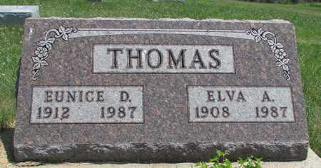 THOMAS, ELVA A. - Worth County, Missouri | ELVA A. THOMAS - Missouri Gravestone Photos