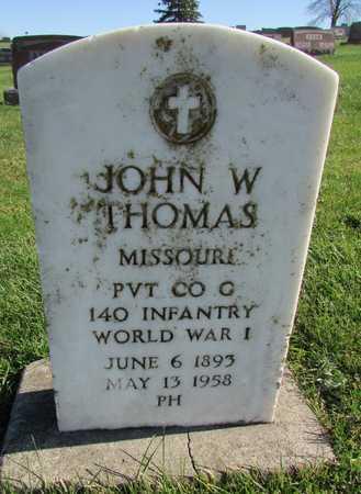 THOMAS, JOHN W. VETERAN WWI - Worth County, Missouri | JOHN W. VETERAN WWI THOMAS - Missouri Gravestone Photos
