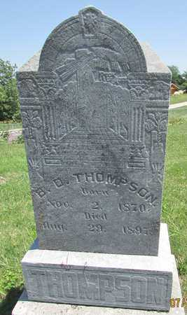 THOMPSON, B D - Worth County, Missouri | B D THOMPSON - Missouri Gravestone Photos