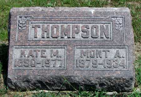 THOMPSON, MONT A. - Worth County, Missouri | MONT A. THOMPSON - Missouri Gravestone Photos