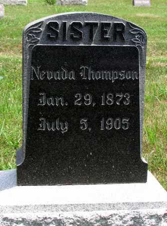 THOMPSON, NEVADA - Worth County, Missouri | NEVADA THOMPSON - Missouri Gravestone Photos