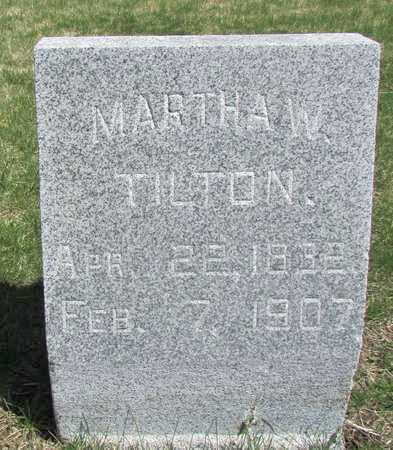 TILTON, MARTHA W. - Worth County, Missouri   MARTHA W. TILTON - Missouri Gravestone Photos