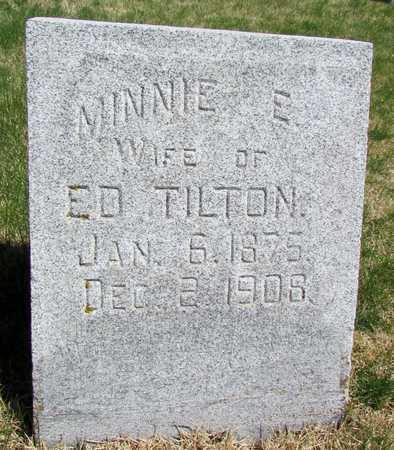 TILTON, MINNIE E. - Worth County, Missouri | MINNIE E. TILTON - Missouri Gravestone Photos